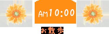 AM10:00 お散歩